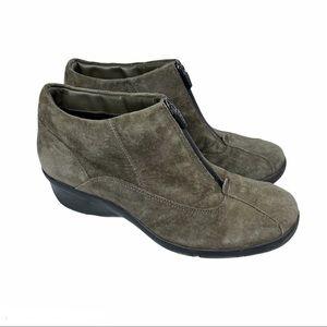 Privo Waterproof Suede Zip Up Ankle Boot